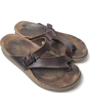 Mephisto Shoes - Mephisto Brown Leather Helen Sandals 8
